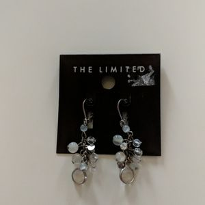 The Limited silver bead earrings
